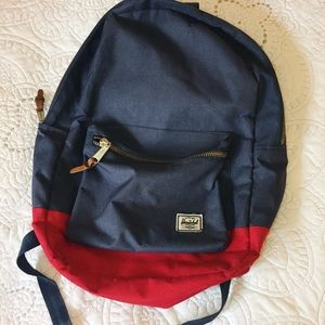 Herschel Blue Red Backpack